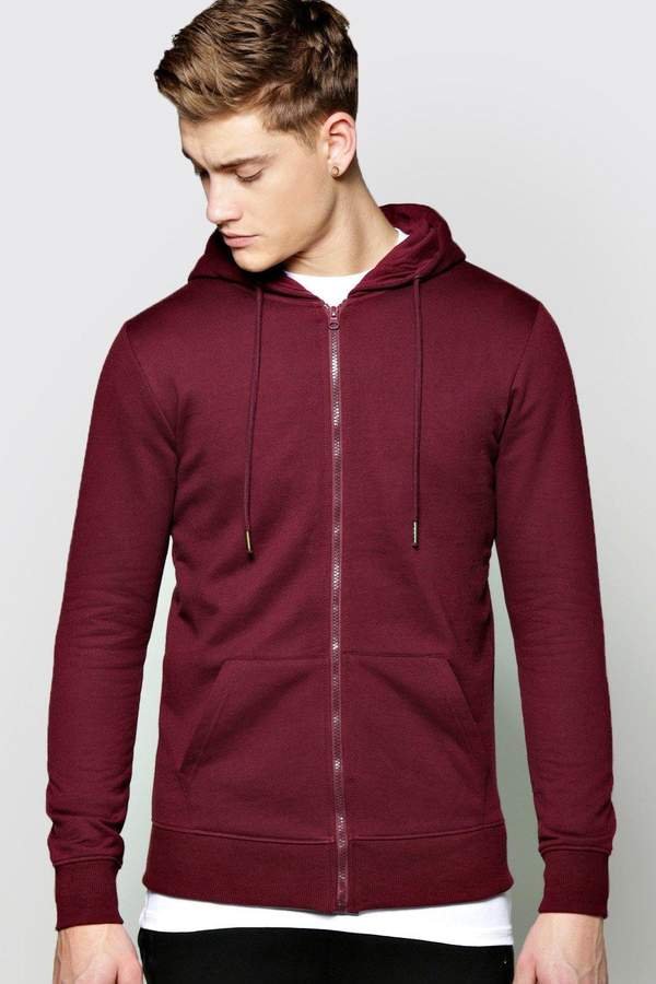 boohoo Lightweight Basic Zip Through Hoodie