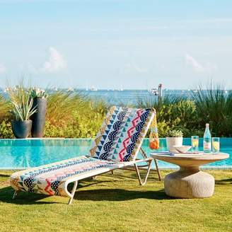 west elm All-Weather Wicker Colorblock Woven Outdoor Chaise Lounger