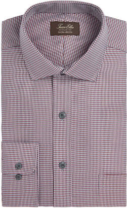 Tasso Elba Men's Classic/Regular Fit Non-Iron Twill Houndstooth Dress Shirt