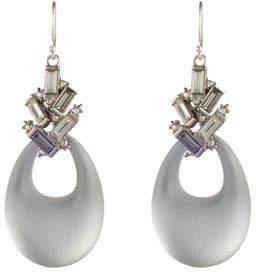 Alexis Bittar Crystal Baguette Cluster Drop Earrings, Gray