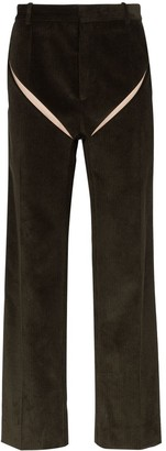 Y/Project slashed straight-leg corduroy trousers