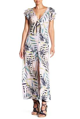 Cotton On & Co. Orlando Knot Front Floral Print Maxi Dress