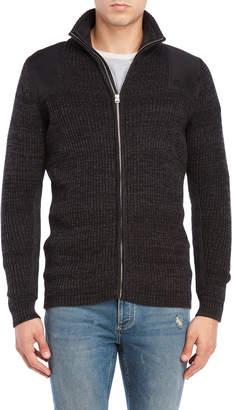 G Star Raw Mock Neck Quarter-Zip Sweater