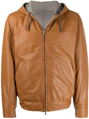 reversible flight jacket