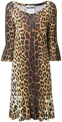 Moschino leopard print midi dress