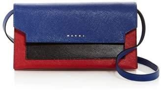 Marni Trunk Color-Block Leather Convertible Crossbody