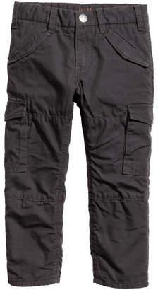 H&M Lined Cargo Pants - Black