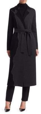 Akris Patchwork Cashmere Cardigan Coat