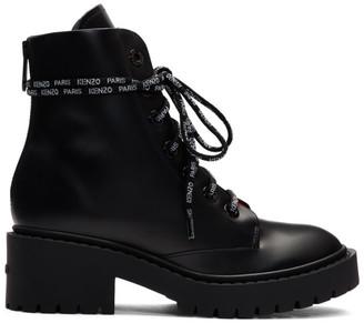 Kenzo Black Pike Boots