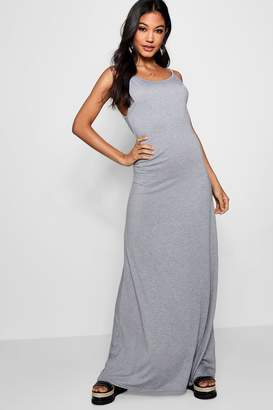 boohoo Strappy Low Back Maxi Dress
