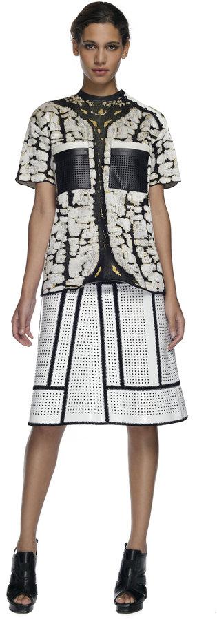 Proenza Schouler White Combo Short Sleeve Pullover