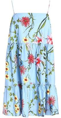 Nicholas Floral-print Cotton-poplin Mini Dress