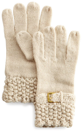 Hat Attack Knit Buckle Glove, Oat