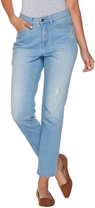 Denim & Co. Studio by Classic Denim Distressed Ankle Jeans