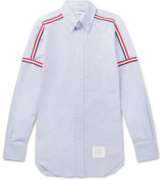 Thom Browne Slim-Fit Button-Down Collar Striped Cotton Oxford Shirt - Light blue