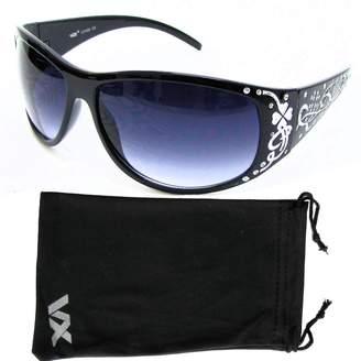 Vox Footwear Women's Polarized Sunglasses Designer Fashion Eyewear Free Microfiber Pouch - Frame - Smoke Lens