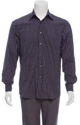Ralph Lauren Purple Label Plaid Dress Shirt