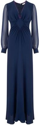 Libelula Long Jessie Dress Navy Georgette