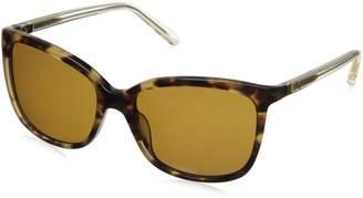 Kate Spade Women's Kasie/P/S Polarized Square Sunglasses, Havana Brown/Brown