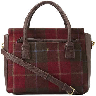 Joules Day To Day Tweed Shoulder Bag - Red Check