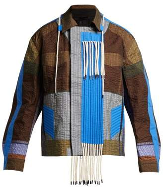 Craig Green Patchwork Rope Tassel Jacket - Womens - Dark Green Multi