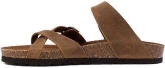 White Mountain Adjustable Straps Leather Sandals - Gracie