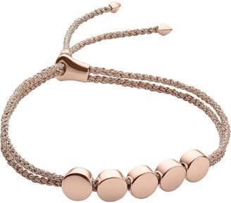 Monica Vinader Linear Bead 18ct rose-gold plated friendship bracelet