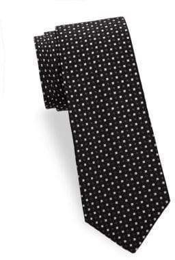 Saks Fifth Avenue Two Tone Dot Silk Tie