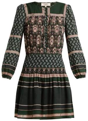 Sea Mia Border Print Cotton Blend Dress - Womens - Green Print