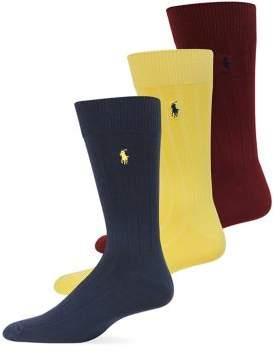 Polo Ralph Lauren Ribbed Socks Three-Pack