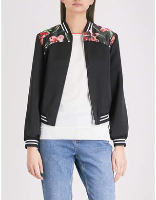 Claudie Pierlot Vroum striped printed woven bomber jacket