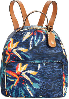 Tommy Hilfiger Julia Hawaiian Print Dome Backpack