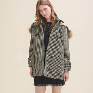 Maje Coat with Prince of Wales-style checks