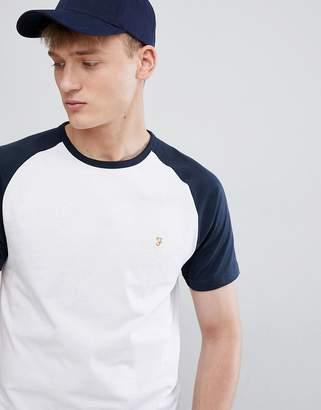 Farah Zemlak slim fit reglan sleeve t-shirt in navy