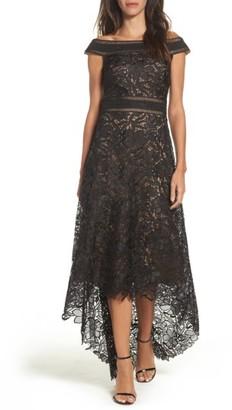 Women's Tadashi Shoji Lace Off The Shoulder Gown $548 thestylecure.com