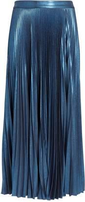 A.L.C. Bobby Blue Metallic Pleated Skirt