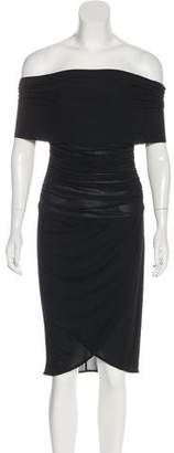 Celine Ruched Midi Dress