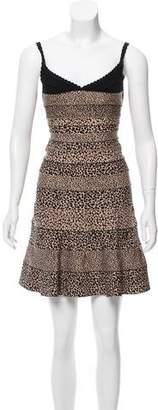 Herve Leger Nell A-Line Bandage Dress