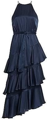 Zimmermann Women's Eye Spy Tiered Ruffled Halter A-Line Dress