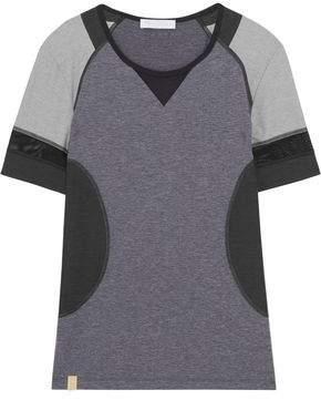 Hi-Performance Mesh-Trimmed Stretch-Jersey T-Shirt