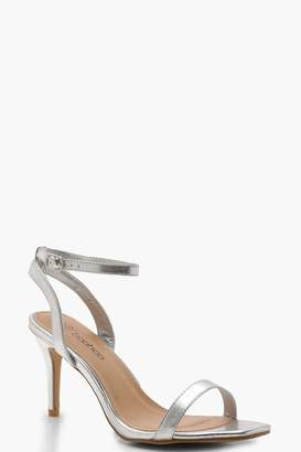 boohoo Extra Wide Fit Square Toe Two Part Heels