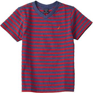 Nautica Striped V-Neck T-Shirt