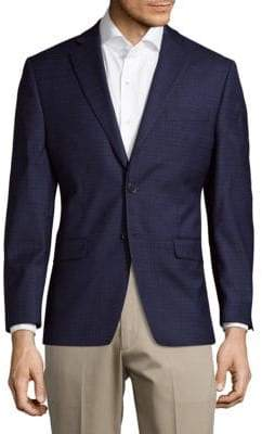 Calvin Klein Window Slim Fit Wool Jacket