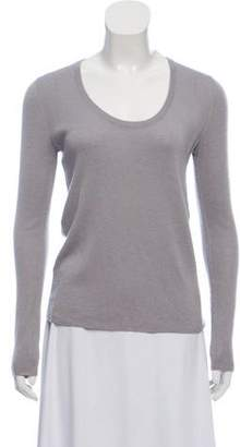 Prada Long Sleeve Scoop Neck Sweater