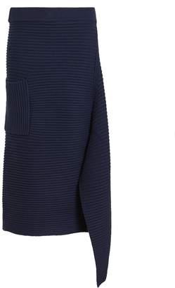 Tibi Merino Wool Origami Slit Skirt