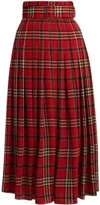 Emilia Wickstead Richie tartan-print pleated skirt