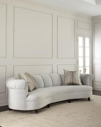 "Haute House Audrey Channel Tufted Sofa 123"""