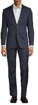 Saks Fifth Avenue Extra Slim Fit Two-Piece Wool Plaid Suit