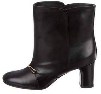 Celine Leather Chain-Link Ankle Boots w/ Tags