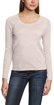Mexx Women's Sweater Plain Crew Neck Long Sleeve Jumper Jumper,(Manufacturer Size: Large)
